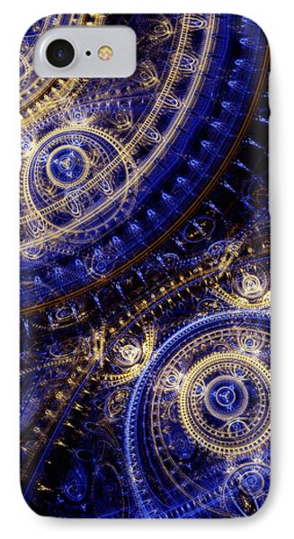 Gears Of Time IPhone Case by Martin Capek