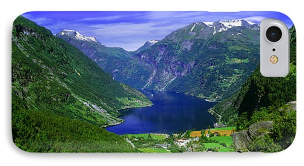 Geirangerfjord, Flydalsjuvet, More Og IPhone Case by Panoramic Images