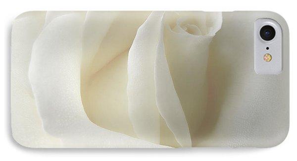 Gentle White Rose Flower Phone Case by Jennie Marie Schell