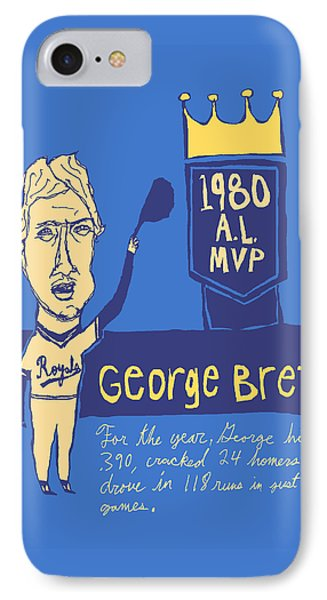 George Brett Kc Royals IPhone Case by Jay Perkins