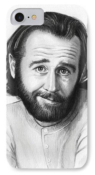 George Carlin Portrait IPhone 7 Case by Olga Shvartsur