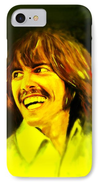 George Harrison - The Beatles IPhone Case by Marcello Cicchini