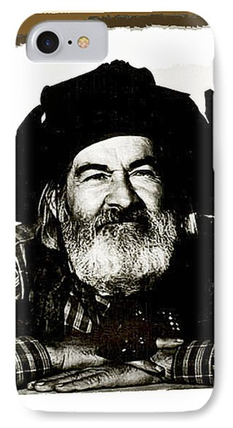 George Hayes Portrait #1 Card IPhone 7 Case by David Lee Guss