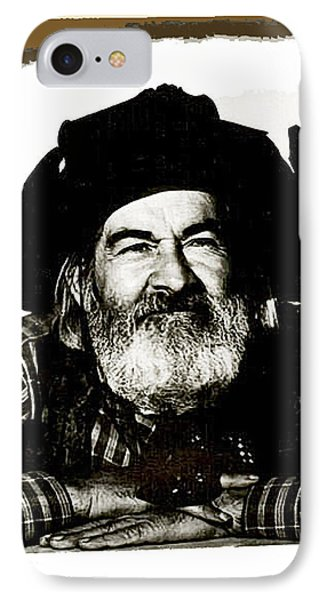 George Hayes Portrait #1 Card IPhone Case by David Lee Guss