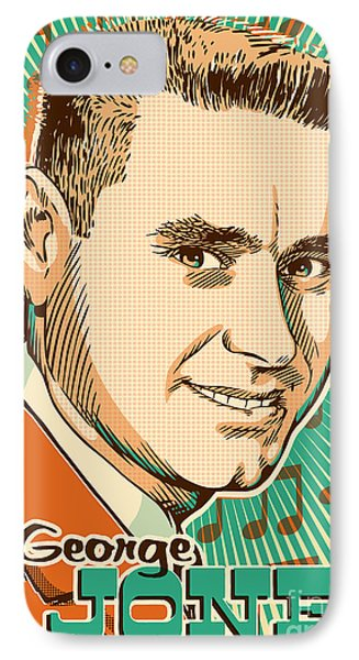George Jones Pop Art IPhone 7 Case by Jim Zahniser