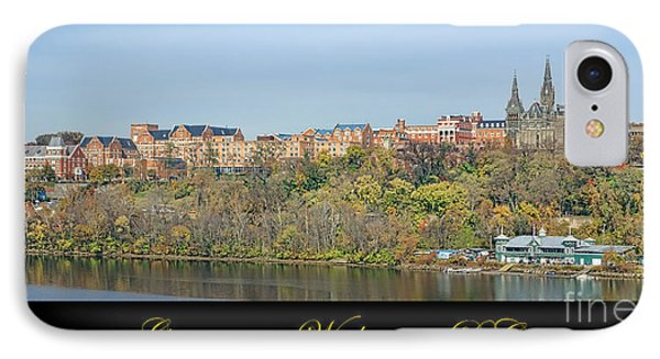 Georgetown Poster Phone Case by Olivier Le Queinec