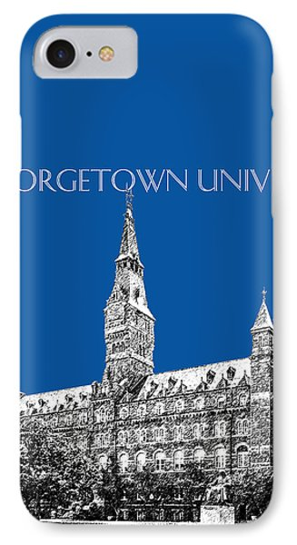 Georgetown University - Royal Blue IPhone 7 Case by DB Artist