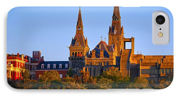 Georgetown University IPhone Case by Mitch Cat