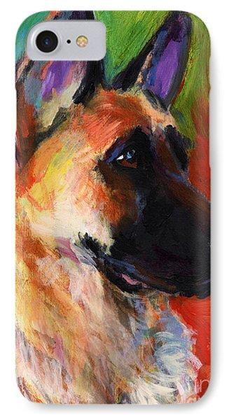 German Shepherd Dog Portrait IPhone Case by Svetlana Novikova
