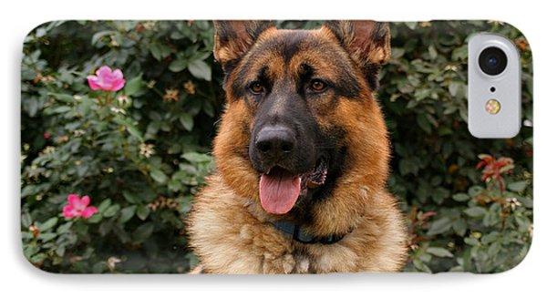 German Shepherd Dog Phone Case by Sandy Keeton