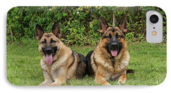 German Shepherds - Mother And Son Phone Case by Sandy Keeton