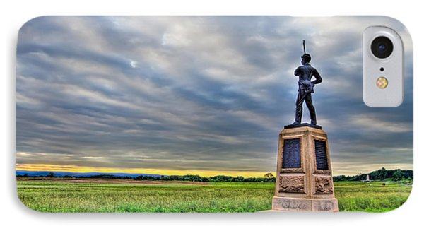 Gettysburg Battlefield Soldier Never Rests IPhone Case by Andres Leon