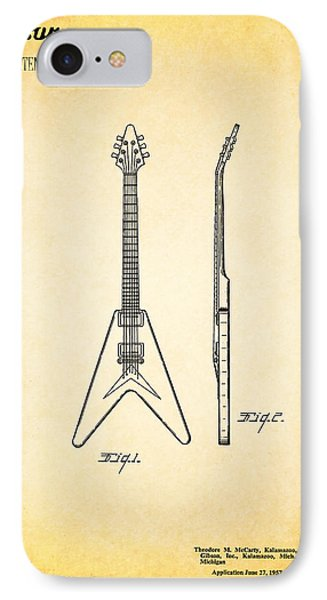 Gibson Guitar Patent IPhone Case by Mark Rogan