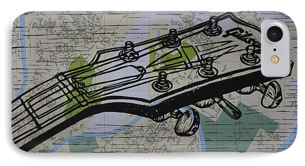 Gibson On Map IPhone Case by William Cauthern