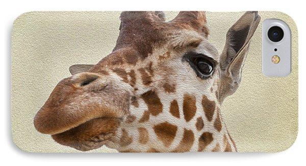Giraffe Close Up Phone Case by Svetlana Sewell