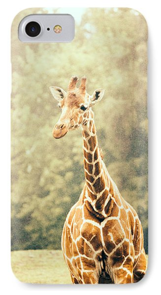 Giraffe In The Rain IPhone Case by Pati Photography