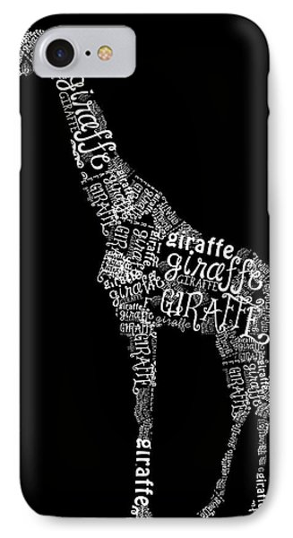 Giraffe Is The Word Phone Case by Heather Applegate