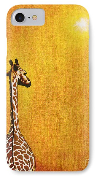 Giraffe Looking Back IPhone Case by Jerome Stumphauzer