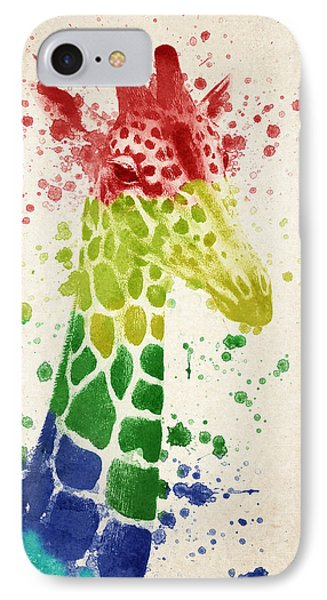 Giraffe Splash IPhone Case by Aged Pixel
