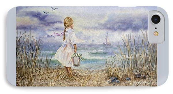 Girl At The Ocean IPhone 7 Case by Irina Sztukowski