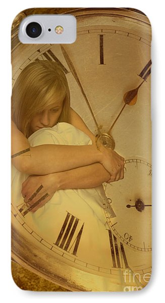 Girl In White Dress In Pocket Watch IPhone Case by Amanda Elwell