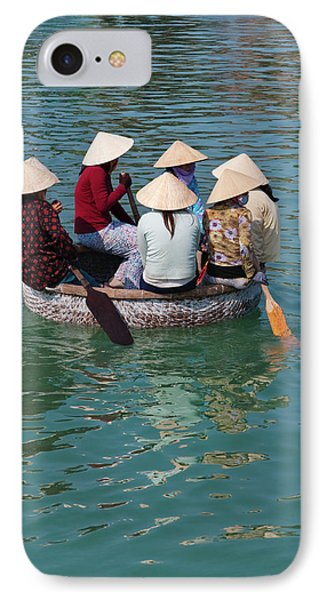 Girls With Conical Hats In Bamboo IPhone Case by Keren Su