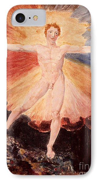 Glad Day Or The Dance Of Albion Phone Case by William Blake