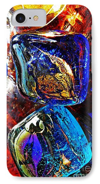 Glass Abstract 685 Phone Case by Sarah Loft