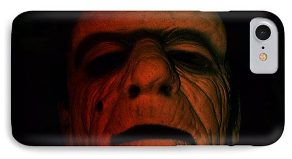 Glenn Strange As Frankenstein Mask IPhone Case by Jim Fitzpatrick