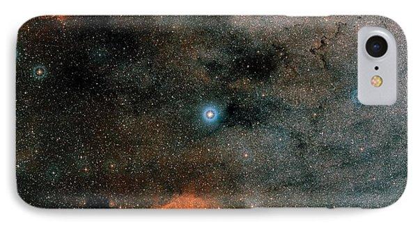 Gliese 667 Triple-star System IPhone Case by Eso/digitized Sky Survey 2. Acknowledgement: Davide De Martin