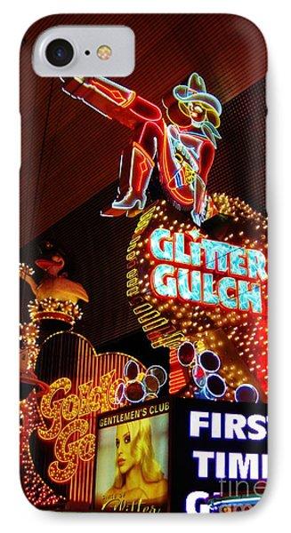 Glitter Gulch Phone Case by John Malone