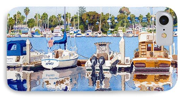 Glorietta Bay Marina IPhone Case by Mary Helmreich