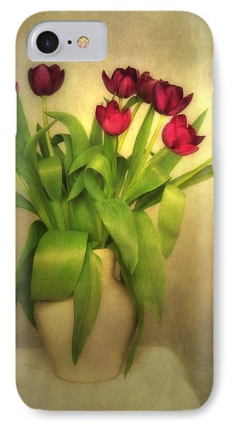 Glowing Tulips Phone Case by Annie Snel