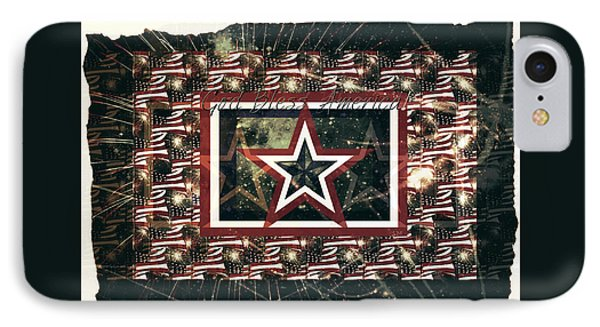 God Bless America IPhone Case by Sherry Flaker