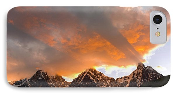 God Rays, Crepuscular Rays, Clouds IPhone Case by Howie Garber
