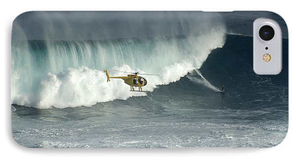 Going Left At Jaws IPhone Case by Bob Christopher