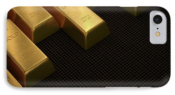 Gold Bullion IPhone Case by Ktsdesign