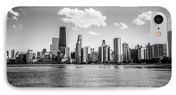 Gold Coast Skyline In Chicago Black And White Picture Phone Case by Paul Velgos