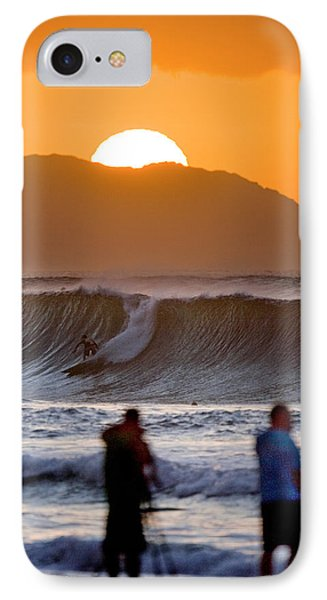 Gold Kaena Sunset Phone Case by Sean Davey