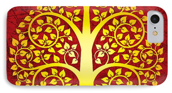 Golden Bodhi Tree No.1 Phone Case by Bobbi Freelance