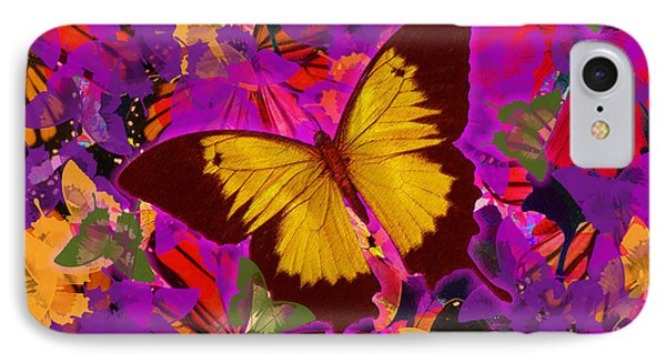 Golden Butterfly Painting Phone Case by Alixandra Mullins