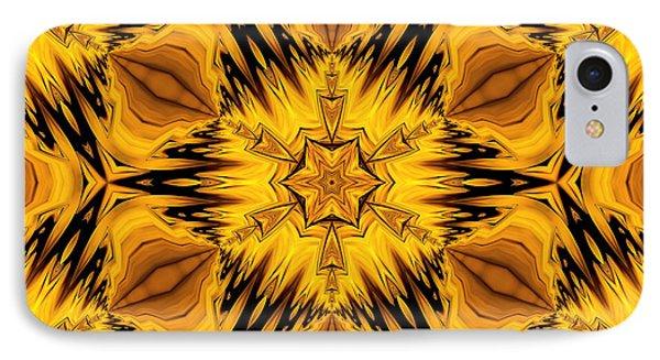 Golden Circle IPhone Case by Georgiana Romanovna