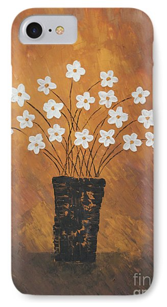 Golden Flowers Phone Case by Home Art