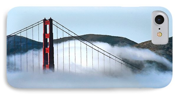 Golden Gate Bridge Clouds Phone Case by Tap On Photo