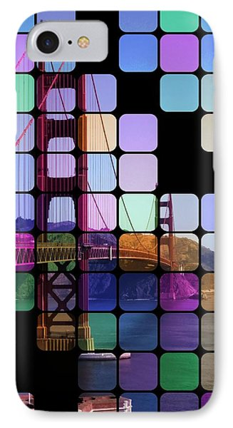 Golden Gate Bridge Modern Art IPhone Case by Florian Rodarte