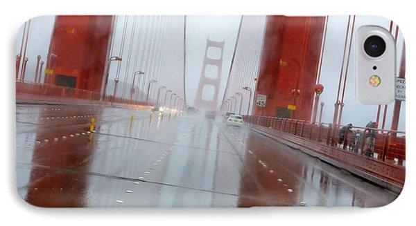 Golden Gate Rain Phone Case by Daniel Furon
