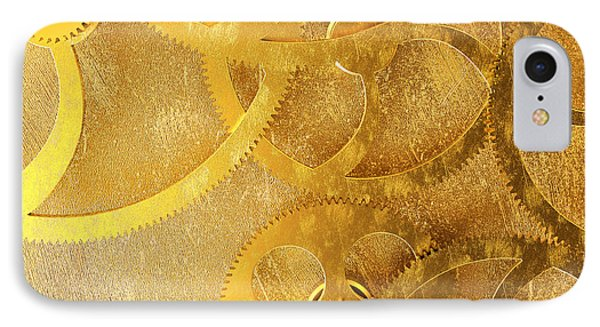Golden Gears Background Phone Case by Tomislav Zivkovic
