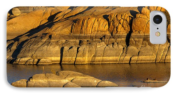 Golden Granite Glow Phone Case by Mike  Dawson