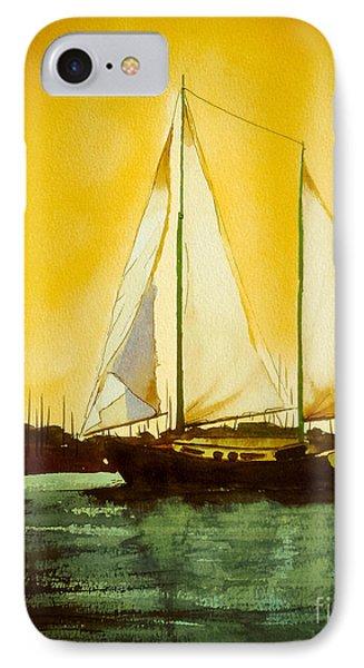 Golden Harbor  IPhone Case by Kip DeVore
