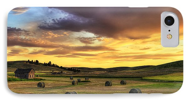 Golden Hour Farm IPhone Case by Mark Kiver